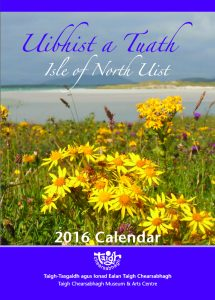 North Uist 2016 Calendar - Front cover