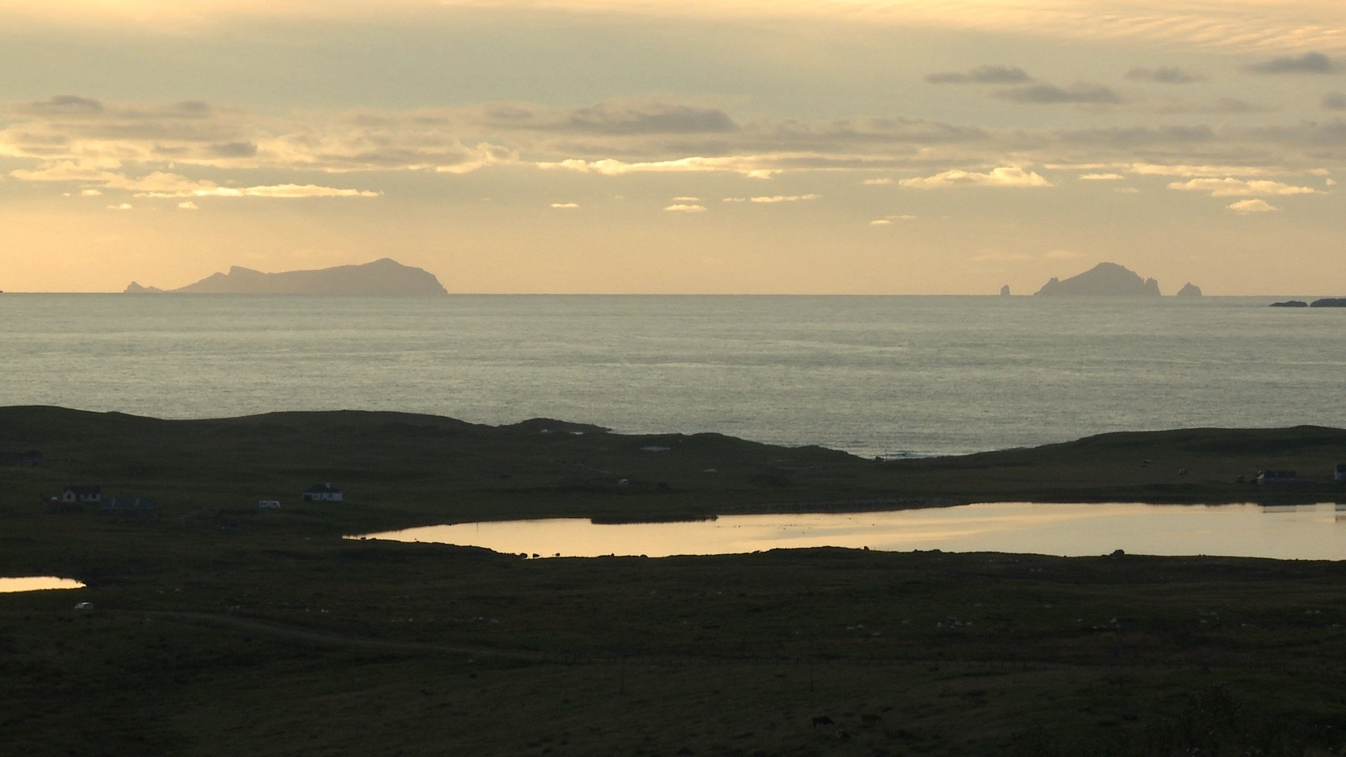 photo of St Kilda from North Uist